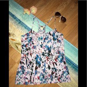 J. Crew women's watercolor print sleeveless top
